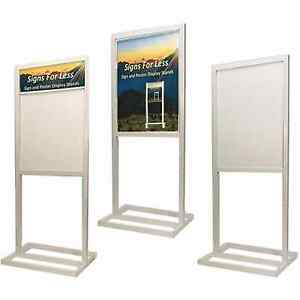 Pedestal Display Sign Board Holder And Stand With White Board Panel