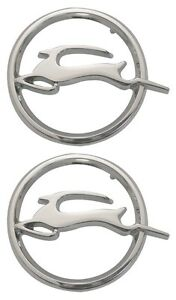 1962 62 Chevy Impala Quarter Panel Deer Emblems Pair