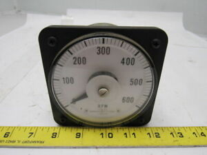 Ge General Electric Db 40 103111fazz2 Panel Meter Dc Ammeter 0 1 Ma 0 600 Rpm