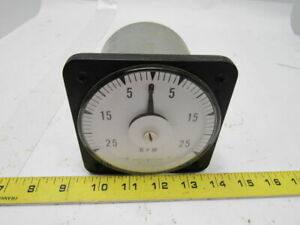 Ge General Electric Db 18 Panel Mount Tachometer Voltmeter 25 25 Rpm