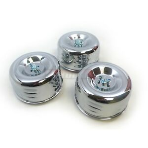 Chrome 4 5 8 Louvered Air Cleaners 3 Tri Power Three Deuce Intake 1 Or 2 Bbl