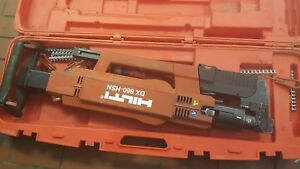 Working Hilti Dx 860 Hsn Automatic Powder Metal Decking Roofing Nail Gun