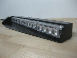 Equipment Supply Strobe Emergency Ems Fire Police Visor Split Lightbar White