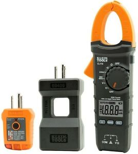 Electrical Multimeter Clamp Maintenance Tester Kit Klein Tools Lcd Voltage New