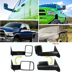 Set Tow Mirrors Power Heated Led Signal For 02 08 Dodge Ram 1500 03 09 2500 3500