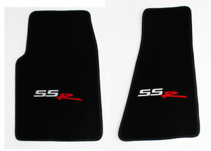 New Black Front Floor Mats 2005 2006 Chevy Ssr Embroidered Logo On Both Pair
