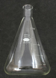 Kimble Kimax Graduated Erlenmeyer Flask 4l 4000ml 26500 4000