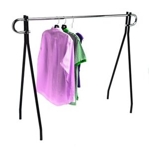 Single Bar Black Clothing Rack 48 h X 60 l