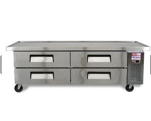 Chef Base 72 6 Refrigerated Grill Stand 4 Draw Equipment Table Line Drawer