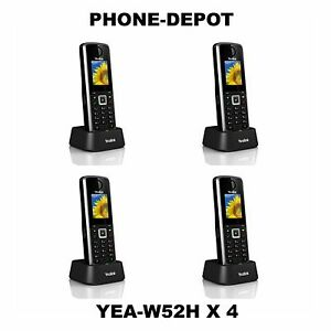 Yealink Lot Of 4 Yea w52h Dect Sip Additional Handset 5 Sip Accounts