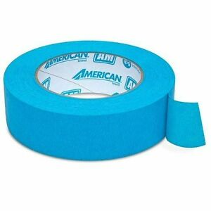 American Am3655 Automotive Refinish 1 5 1 1 2 Aqua Mask Masking Tape 24 Rolls