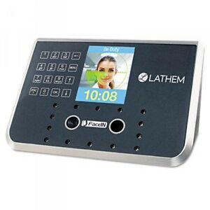 Lathem Time Face Recognition Clock System 500 Employees Gray lthfr650kit