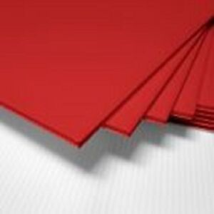 100 Pcs Corrugated Plastic 18x24 4mm Red Blank Sign Sheets