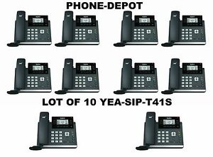 Yealink Lot Of 10 Yea sip t41s Ip Desk Phone Optima Hd Voice 6 Sip Accounts