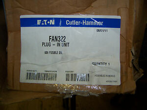 Eaton Cutler hammer Busway Fusible Switch 60 Amp 3 Ph 4 Wire 240 Ac Volts Fan322