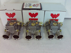 3 Weber 45 Dcoe Genuine Weber 19600 060 Carburetors With Tuning Dvd New