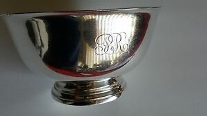 International Sterling Silver Footed Bowl D259 Reproduction Paul Revere