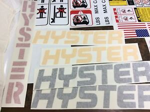 Hyster Forklift Decal Kit Complete With Safety Decals Hyster 100 Decals