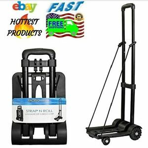 Portable Outdoor Travel Cargo Cart Shopping Trolley Foldable Luggage Heavy Duty