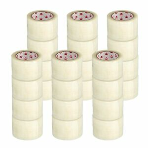 48 Rolls Heavy Duty Shipping Packaging Hot Melt Adhesive Tape 3 X 330 1 75 Mil
