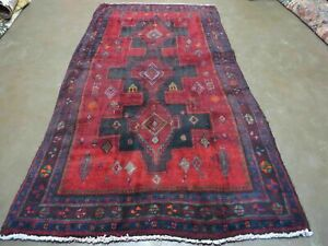 4 X 8 Antique Hand Made Hamadann Mousel Angelas Wool Rug Veg Dyes Nice