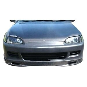Kbd Body Kits Spoon Style Polyurethane Front Lip Fits Honda Civic 2dr 3dr 92 95