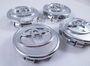 2006 2019 Toyota 2 1 4 Inch Silver Chrome Center Caps 57mm Hub Caps New