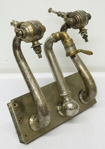 Antique Soda Fountain Syrup Dispenser Faucet Set Coca cola Pepsi 1900s Vintage