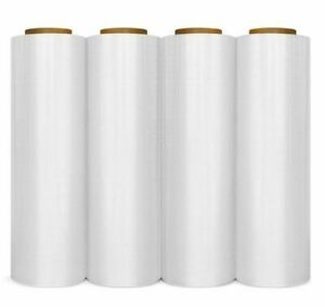 4 Rolls Stretch Wrap Hand Shrink Film 18 X 1000 Free Shipping