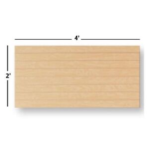 New Slatwall Easy Panels Set Of 2 Pieces 2 H X 4 W Maple Free Shipping