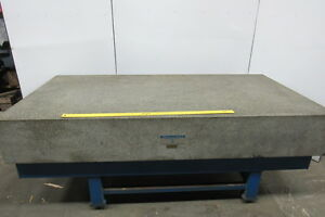 Rock Of Ages 96 x48 x14 Granite Surface Inspection Plate W stand Recent Cert