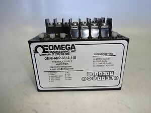 Omega Omni amp iv 13 115 Thermocouple Amplifier