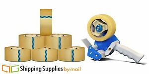 12 Rolls 2 X 55 Yards Hotmelt Adhesive Packing Tapes 3 0 Mil With Dispenser