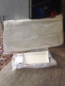 1969 Chevelle White Parchment Pad Front Door Panels And Conv Rear Pui