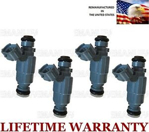 Set Of 4 Flow Matched Fuel Injectors For Genuine Hyundai Kia 2 4l 35310 38010