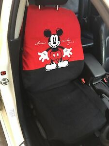 Mickey Mouse Disney Car Truck Accessory 1 1 Piece Car Seat Cover Red Black