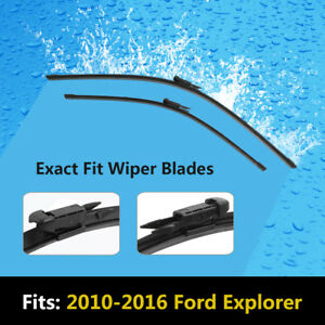 Set Of 2 26 22 Exact Fit Windshield Wiper Blades For Ford Explorer