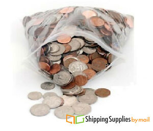 10 x13 Clear Reclosable Bag 4 Mil Thick Plastic Poly 2000 Bags