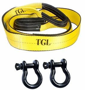 Off Road Recovery Kit 1 3 X 8 Tree Saver Strap 2 3 4 D Rings Tow Atv Tow