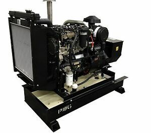 45 Kw Diesel Generator Perkins With 25 Gallon Fuel Tank Stationary Use