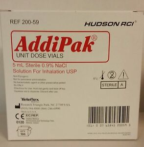 Addipak Sterile Saline Solution 0 9 5ml 200 bx 200 59 Ships Free
