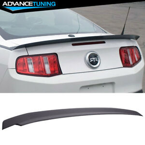 10 14 Ford Mustang Gt 4 Pedestal Unpainted Trunk Spoiler Wing Abs