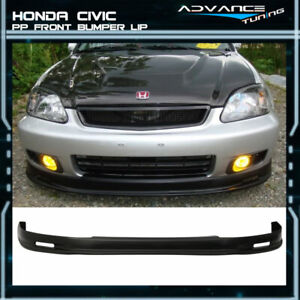 For 99 00 Honda Civic Jdm Mugen Front Bumper Lip Spoiler Pp Bodykit