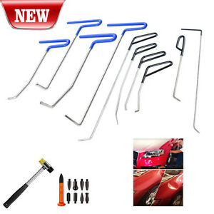 10pcs Pdr Rods Pdr Tools Paintless Dent Repair Kit Auto Body Tools Hammer