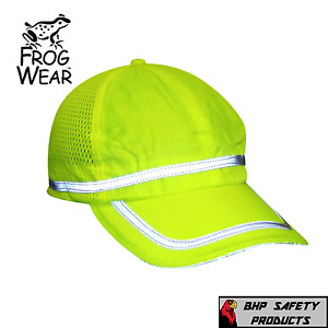Hi vis Lime Reflective Hat baseball Cap Safety Breathable Mesh High Visibility