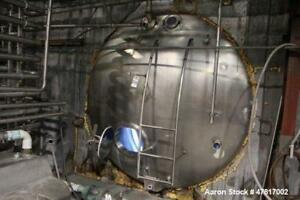 Used 6 400 Gallon Stainless Steel Insulated Horizontal Storage Tank 7 4 X 20