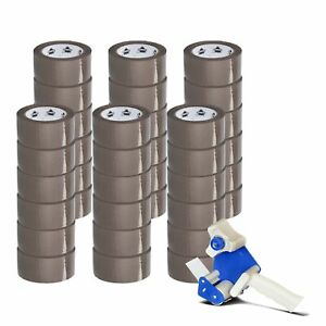 36 Rolls Brown 2 X 1 8 Mil X 55 Yds Packaging Packing Tape Free 2 Dispenser
