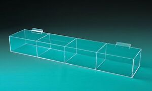 Open Top Slatwall Bin Trays Large Open Trays With Dividers 4 Sizes