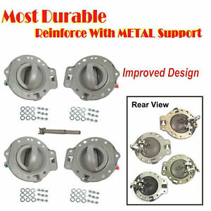Upgraded For 2006 2010 Jeep Commander Inside Inner Door Handle Gray Bolts Set 4