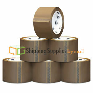 12 Rolls Brown tan Packing Sealing Hotmelt Machine Tape 2 X 1 6 Mil X 1000 Yds